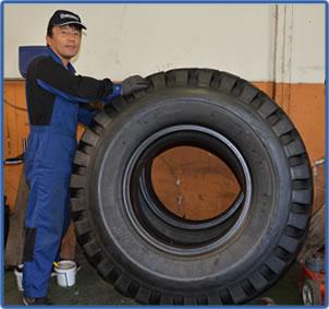 タイヤの修理2